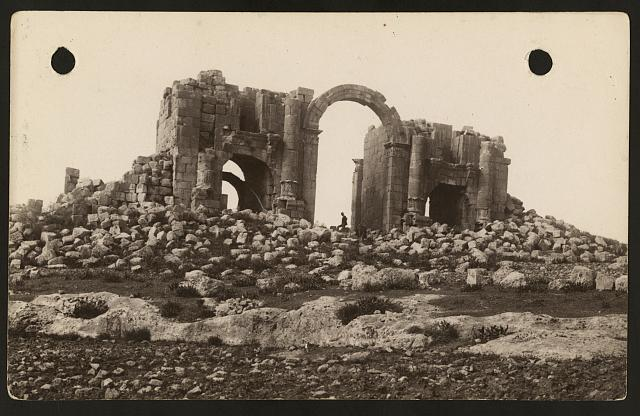 [East of the Jordan and Dead Sea. Triumphal gate from the South]