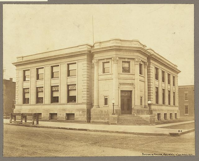 [Exterior view of the Marshalltown Public Library, Marshalltown, Iowa]