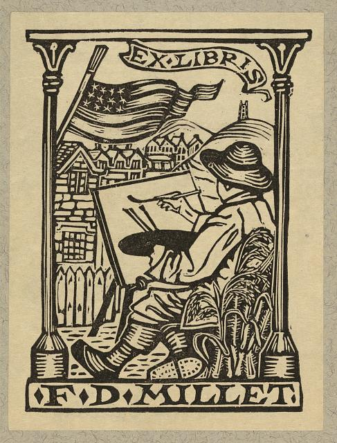 [Bookplate of artist Francis D. Millet]