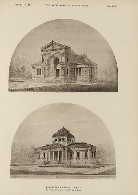 Designs for a memorial library