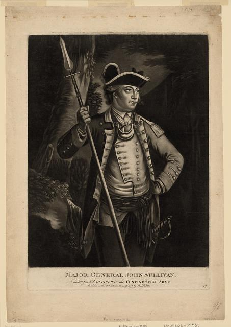 Major general John Sullivan, a distinguish'd officer in the Continential [sic] Army