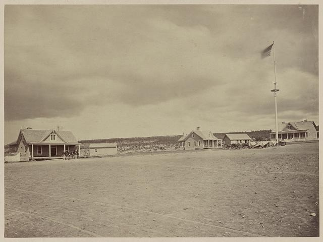 Parade ground at Fort Wingate, 1873