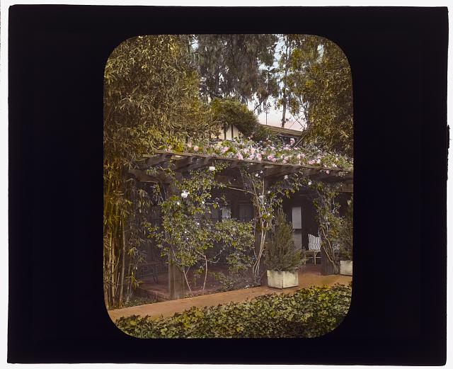 "[""Inellan,"" Walter Douglas house, Channel Drive, Montecito, California. Porch]"