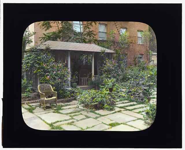 "[""Flagstones,"" Charles Clinton Marshall house, 117 West 55th Street, New York, New York. Tea house/sleeping porch]"