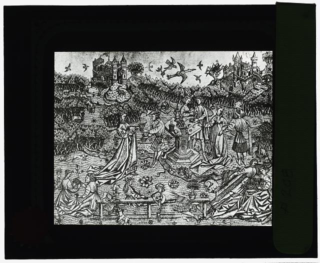 [Reproduction of print showing Garden of Love]