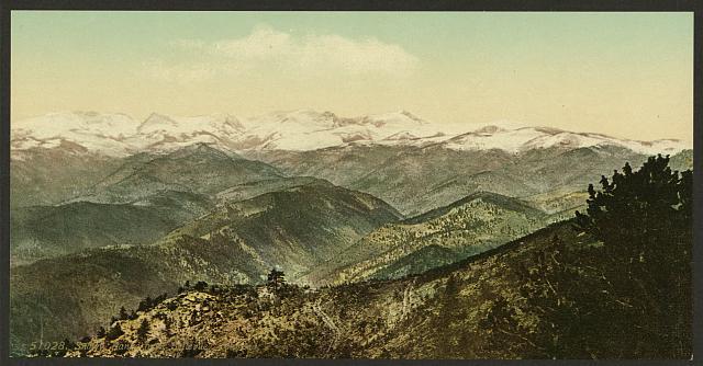 Snowy range from Bellevue, Colorado