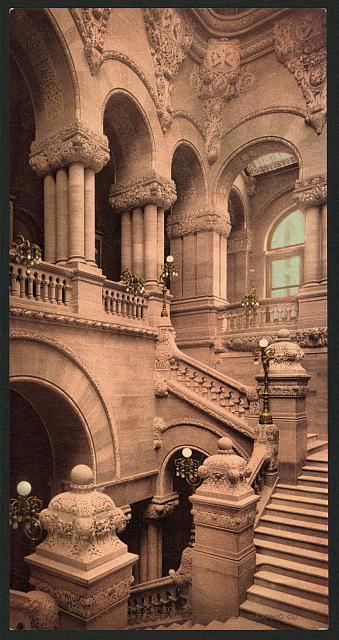 Staircase to the Capitol, Albany, N.Y.