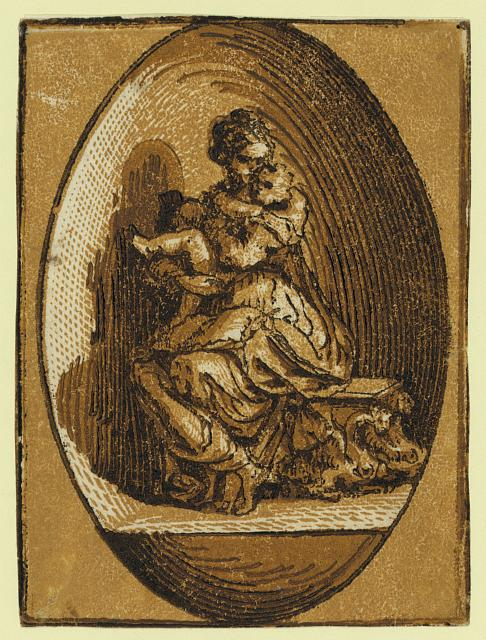 The Virgin in an oval