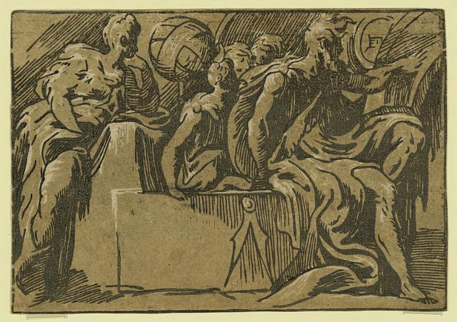The philosopher Diogenes and the allegory of astronomy