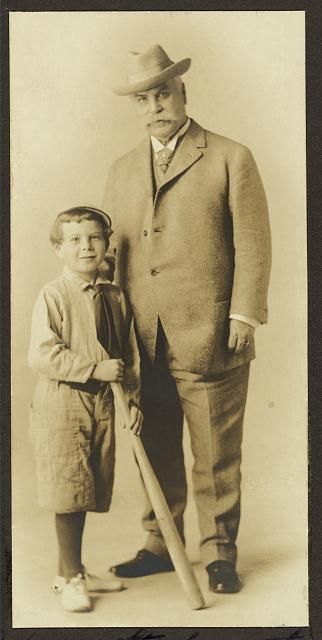 Ralph Adams Starkweather, age 8 years, and father