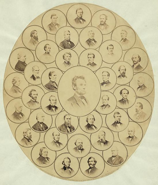 "Photographs of Senators who voted ""Aye"" on the resolution submitting to the legislatures of the several states a proposition to amend the Constitution of the United States as to prohibit slavery"