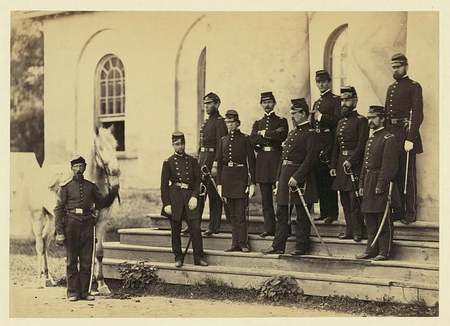 General Irvin McDowell and staff, Arlington House, 1862