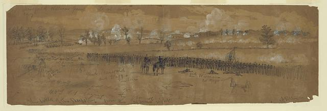 The battle of the Sharpsburg from the extreme right