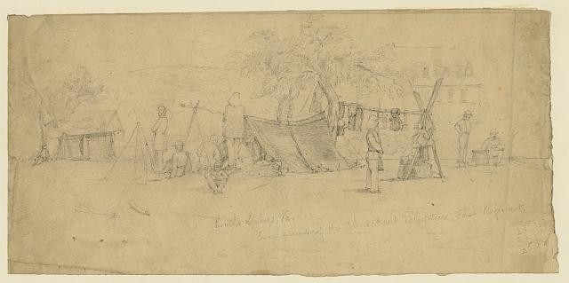 Roach's Springs, Va. Encampment of the Connecticut Volunteers First Regiment
