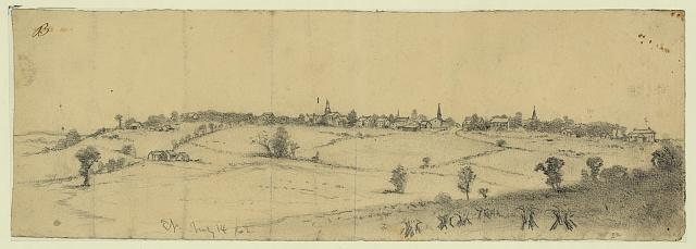 The town of Warrenton, Va., from the east