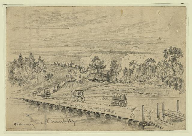 The Army of the Potomac crossing the Pamunkey, on the march to Cold Harbor