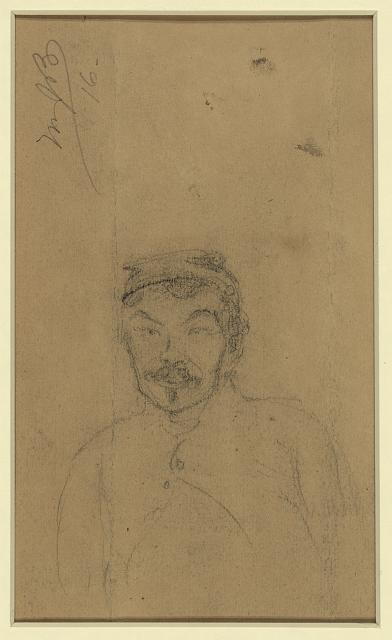 [Bust-length portrait of a soldier]