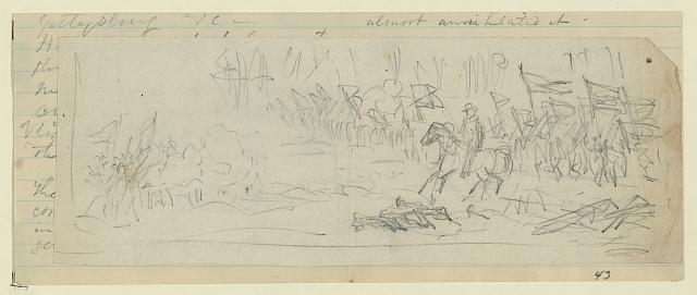 [A Corps going into battle: possibly General Warren's V Corps at Mine Run]