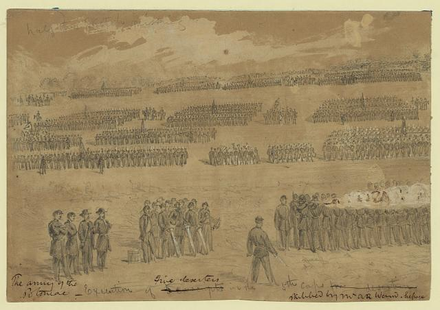 Execution of five deserters in the 5th Corps
