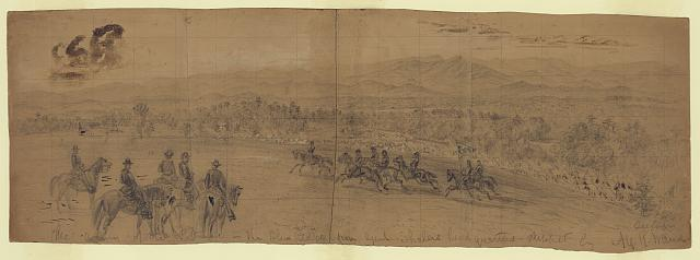 The Army of the Potomac--The Blue Ridge from Genl. Shalers headquarters