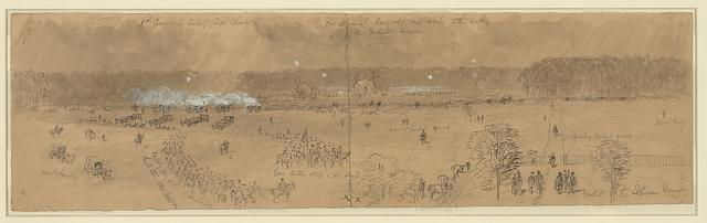 Battle of Darby Town Rd. Gen'l Butler & his staff