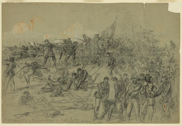 7th N.Y. Heavy Arty. in Barlows charge nr. Cold Harbor Friday June 3rd 1864