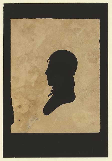 [Silhouette of man facing left, no. 5]