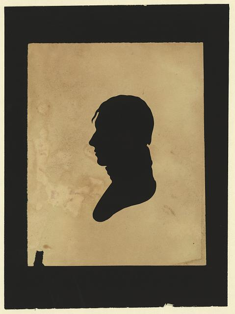 [Silhouette of man facing left, no. 11]