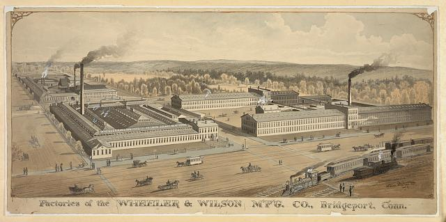 Factories of the Wheeler & Wilson M'F'G. Co., Bridgeport, Conn.