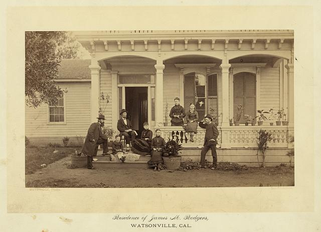 Residence of James Rogers at Watsonville, Cal[ifornia]