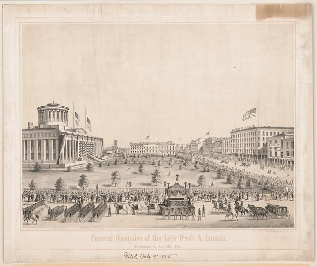 Funeral obsequies of the late Pres't A. Lincoln, Columbus, O., April 29, 1865