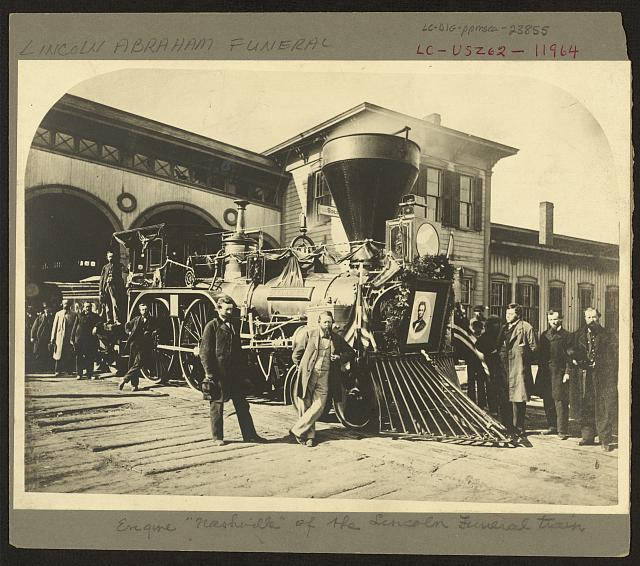 "[Engine ""Nashville"" of the Lincoln funeral train]"