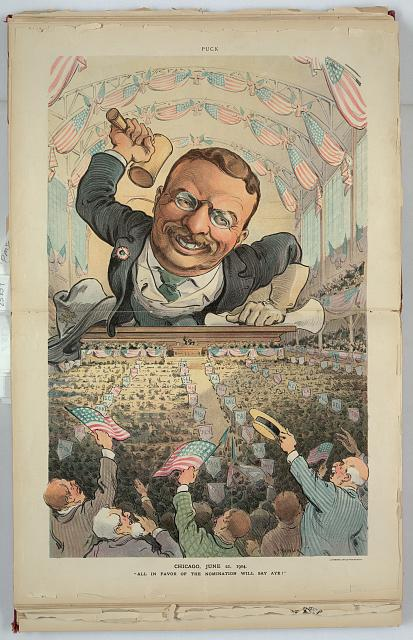 "Chicago, June 21, 1904 - ""All in favor of  the nomination will say aye!"""