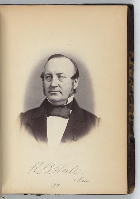 [Robert B. Hall, Representative from Massachusetts, Thirty-fifth Congress, half-length portrait]