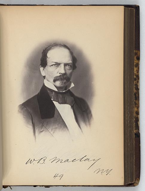 [William B. Maclay, Representative from New York, Thirty-fifth Congress, half-length portrait]