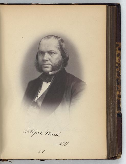 [Elijah Ward, Representative from New York, Thirty-fifth Congress, half-length portrait]