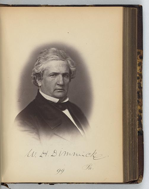 [William H. Dimmick, Representative from Pennsylvania, Thirty-fifth Congress, half-length portrait]