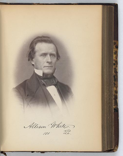 [Allison White, Representative from Pennsylvania, Thirty-fifth Congress, half-length portrait]