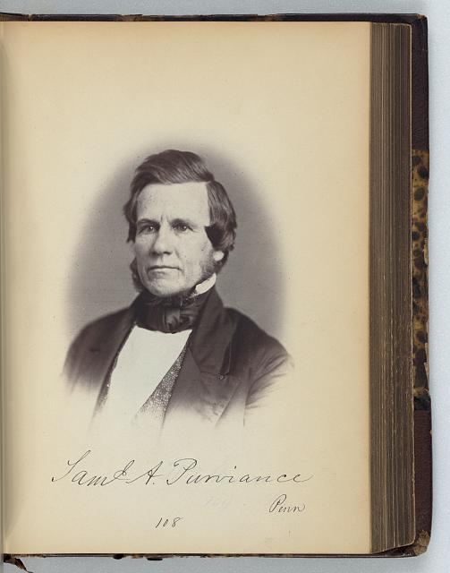 [Samuel A. Purviance, Representative from Pennsylvania, Thirty-fifth Congress, half-length portrait]