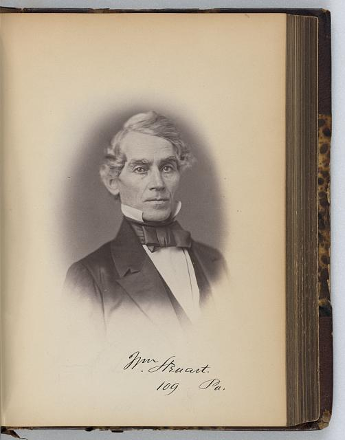 [William Stewart, Representative from Pennsylvania, Thirty-fifth Congress, half-length portrait]