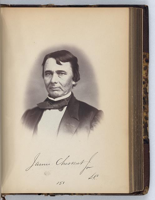 [James Chesnut, Senator from South Carolina, Thirty-fifth Congress, half-length portrait]