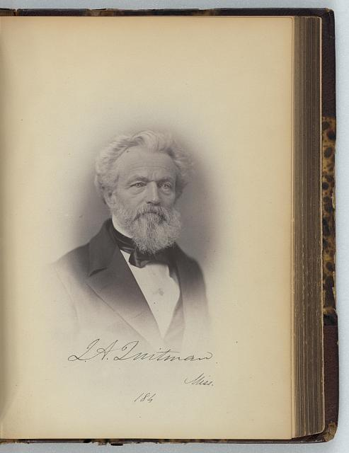 [John A. Quitman, Representative from Mississippi, Thirty-fifth Congress, half-length portrait]