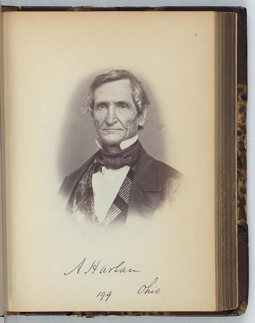 [Aaron Harlan, Representative from Ohio, Thirty-fifth Congress, half-length portrait]
