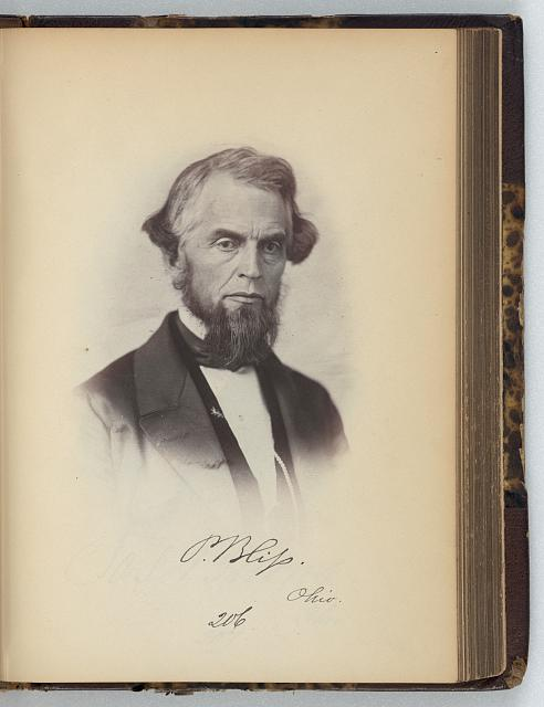 [Philemon Bliss, Representative from Ohio, Thirty-fifth Congress, half-length portrait]