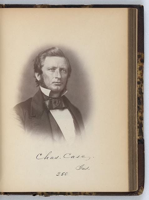 Charles Case, Representative from Indiana, Thirty-fifth Congress, half-length portrait]