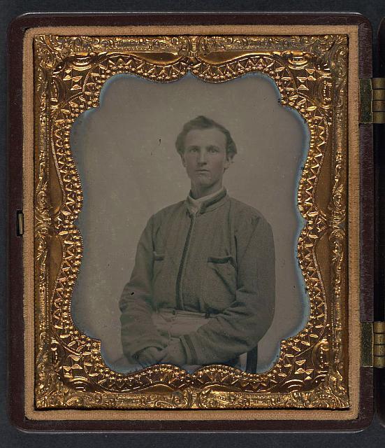 [Lieutenant Horatio J. David of Company B, 16th Georgia Infantry Regiment]