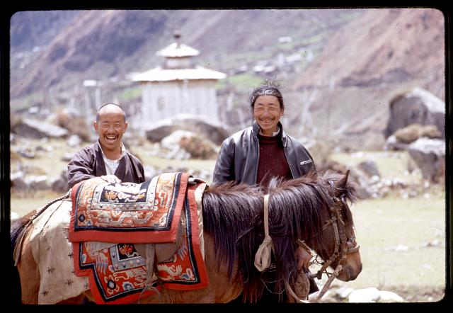 [Two brothers and horse, Sikkim]