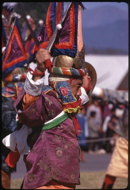 [Warrior dancing at New Year's ceremony, Sikkim]