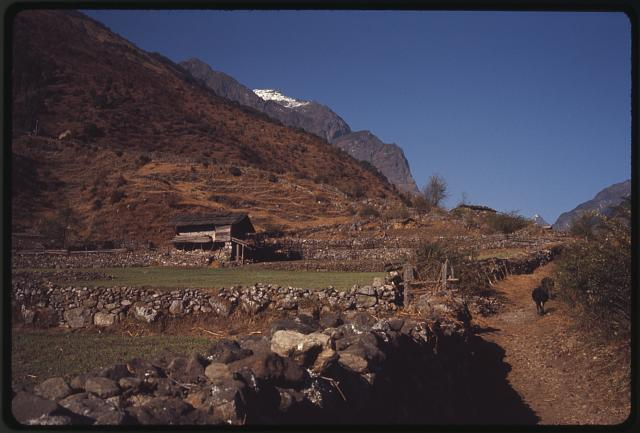 [Mountainside and road in Lachung region, Sikkim]