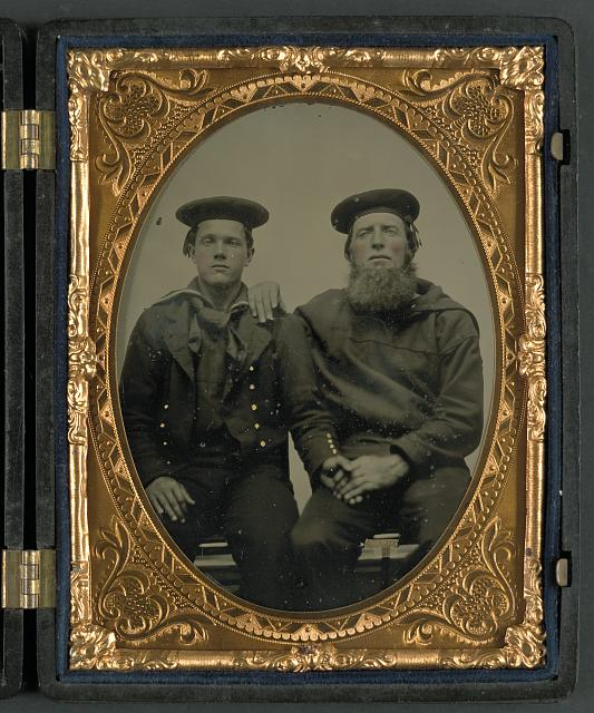[Two unidentified sailors in Union uniforms]